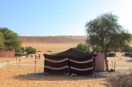 "Bedouin tent. this is our tent at the ""1000 Night Camp"". Wahiba Sands is also home to the traditional Bedouin tribe who are known for their hospitality and their knowledge of the Sands."