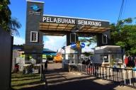 pintu masuk pelabuhan semayang