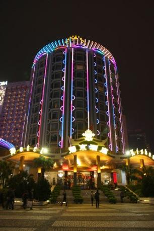 lisboa hotel. the oldest hotel in Macau