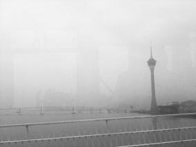 MISTY MACAU TOWER FROM BUS