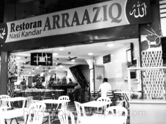 resto halal at arraaziq nasi kandar belakang hotel capitol