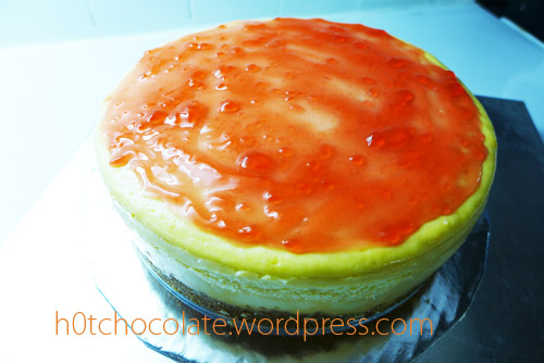 cheese cake diolesi selai stroberi
