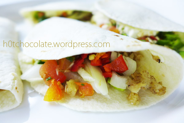 closer look at chicken quesadillas