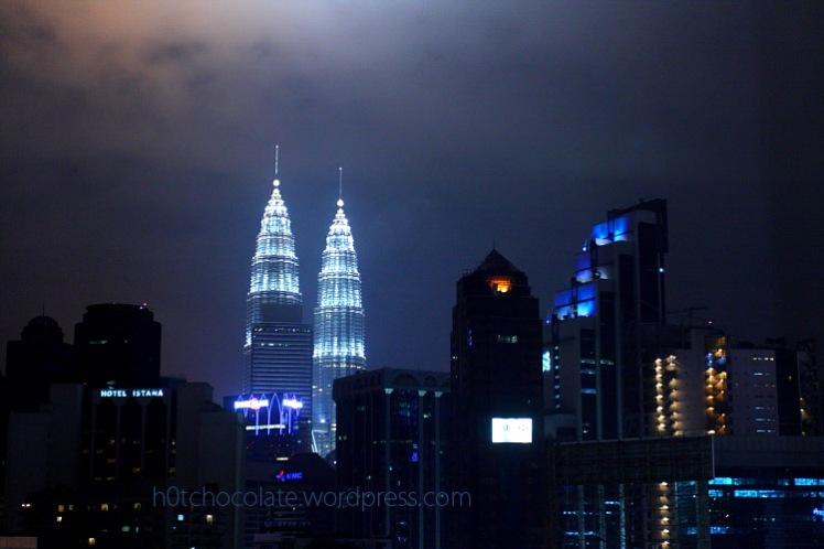 petronas tower at night