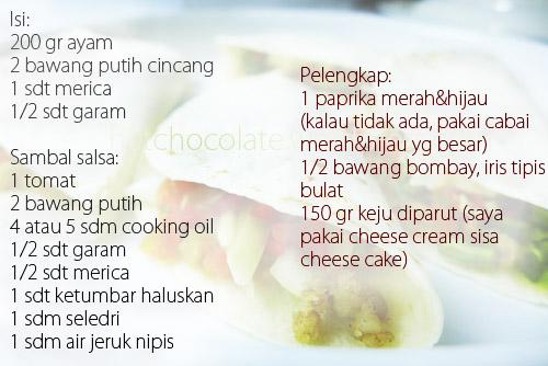 resep chicken quesadillas sambal salsa