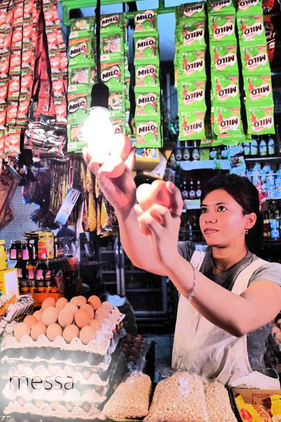 penjual telur