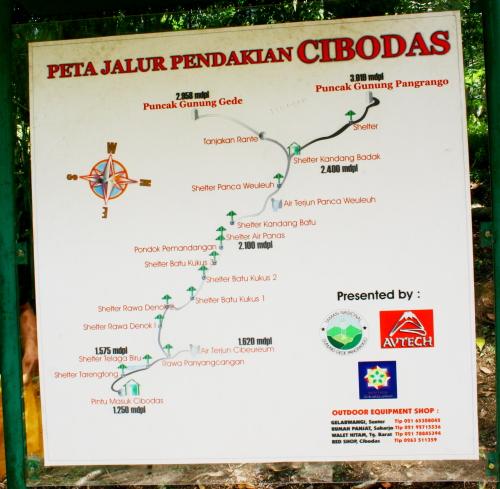 peta pendakian