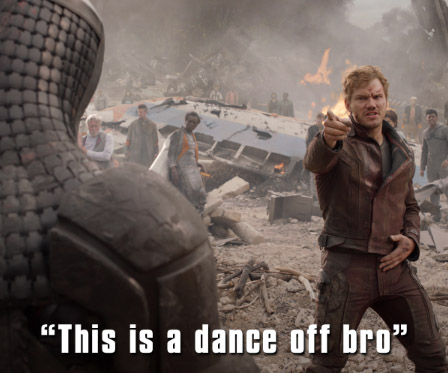 keep calm and dance like star lord