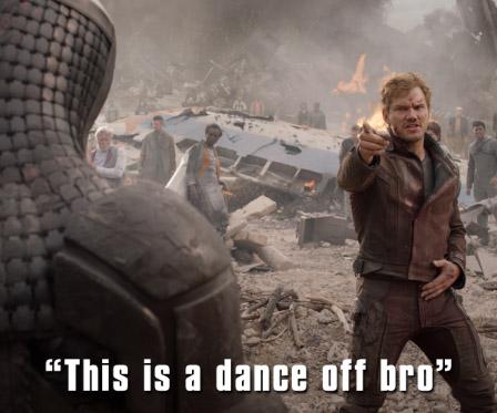 keep calm and dance like star lord