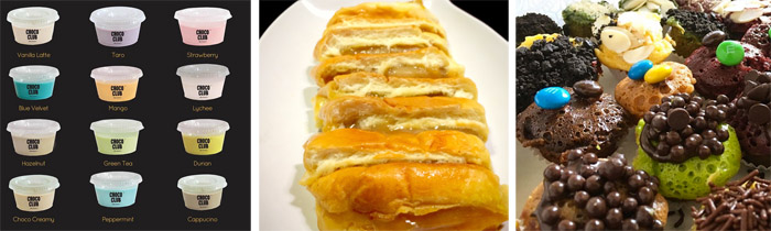 Silky Puding Choco Club, Roti Bakar Srikaya Medan Ala Djintan, Kue Cubit Piajaya